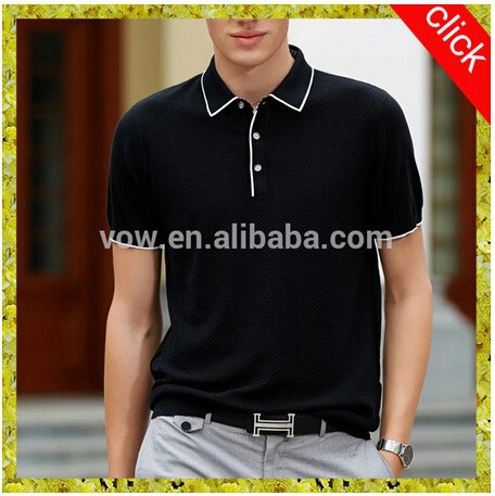 OEM service High quality Wholesale double mercerized cotton short sleeve lapel collar polo shirt designs for men/boys
