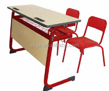 Double Desk And Chair School, Double Colorful Heavy Structure Kids Desk  Chair With Front Board