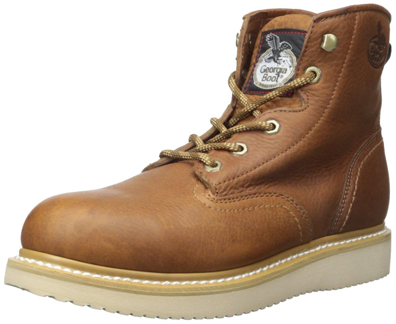 8e200e1fb04b9 Get Quotations · Georgia Men s Wedge Farm   Ranch Boots - G6342