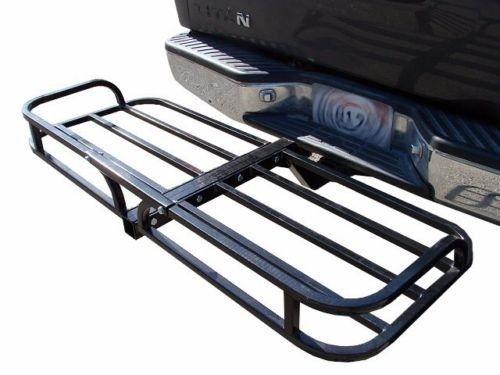 Steel Cargo Carrier Luggage Basket Receiver Hitch Mount Hauler Car SUV Truck ATV