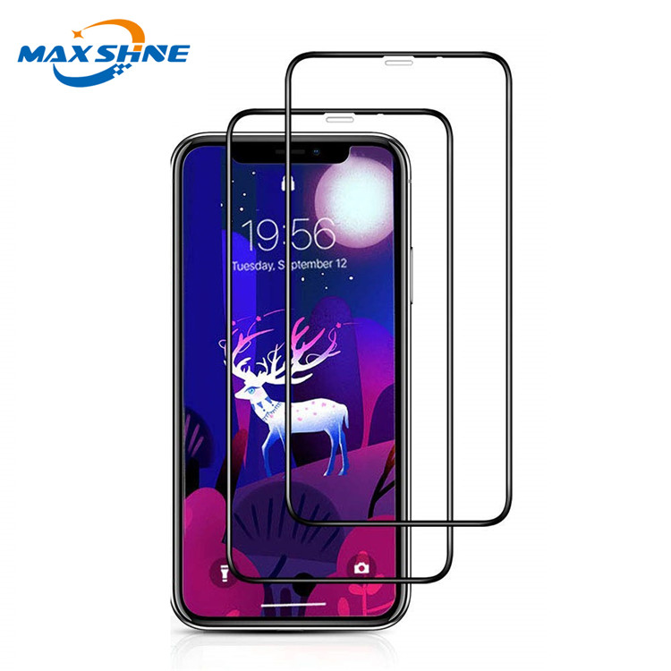 9H 5D tempered glass screen protector roll mobile phone for iphone xr