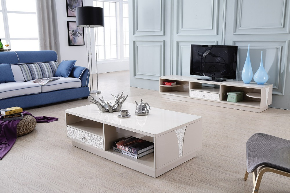 lizz contemporary white living room furniture tv stand and coffee table modern tv cabinet and. Black Bedroom Furniture Sets. Home Design Ideas