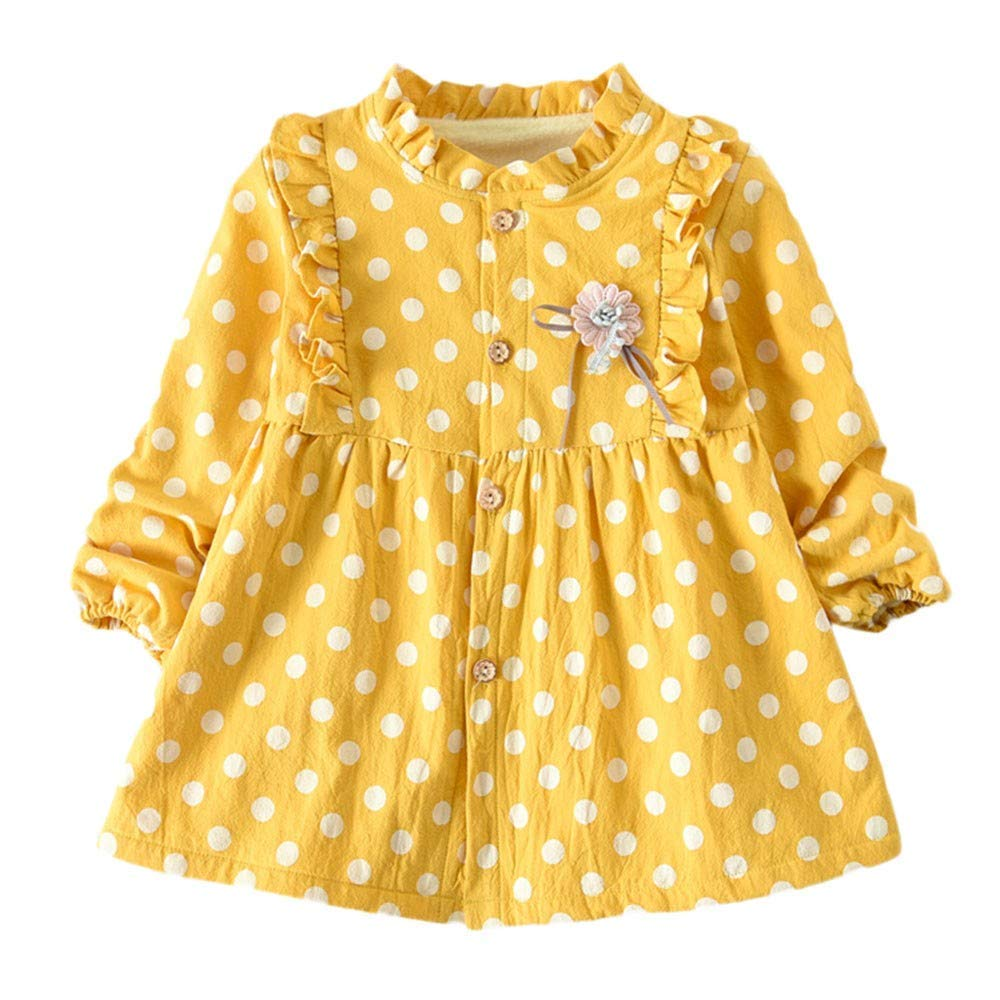 7d47ff8fce7b Get Quotations · Jchen(TM) Fashion Toddler Kid Baby Little Girls Long Sleeve  Thick Polka Dot Print