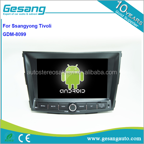 Gesang HD touch screen Car DVD player for Ssangyong with WiFi 3G