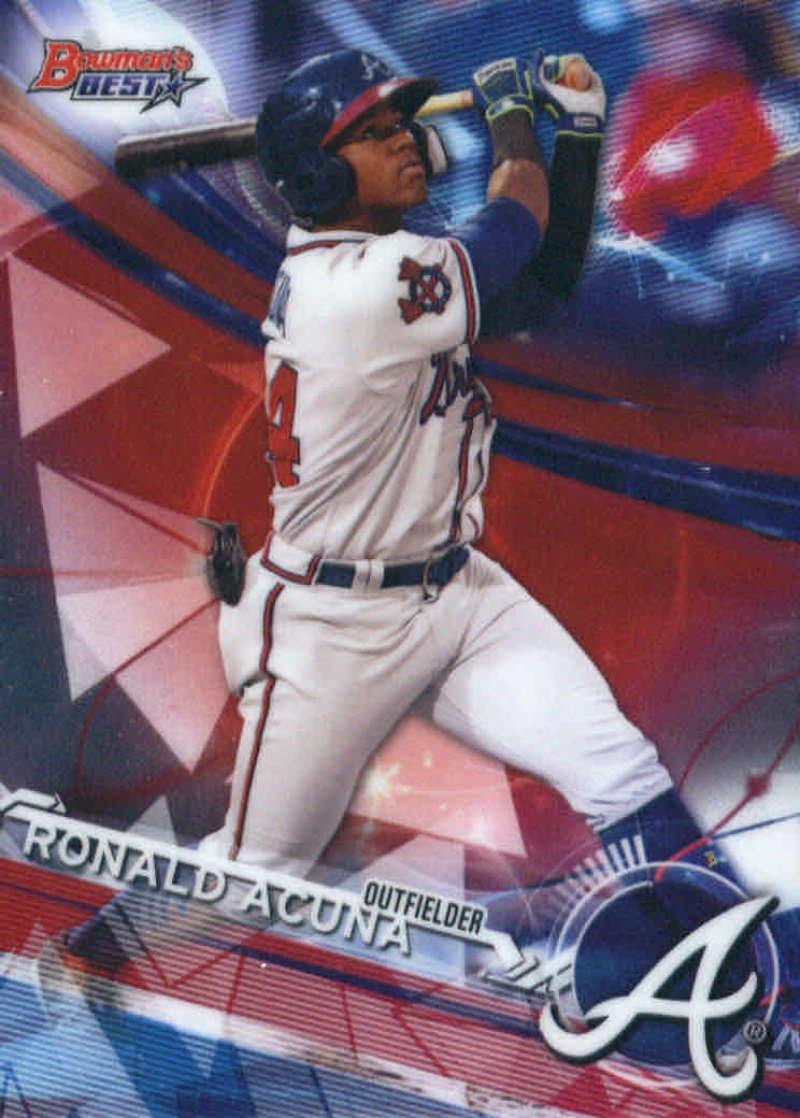 2017 Bowman's Best Top Prospects #TP-10 Ronald Acuna Atlanta Braves Baseball Card