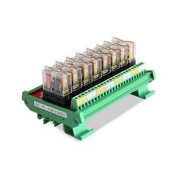 8 Channel Relay Module Board Connection With PLC Output Control DC24V  JR-8L1