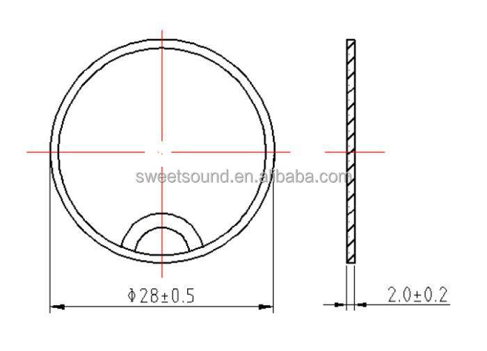 28mm 1 mhz piezoelectric crystal factory piezo ceramic ultrasonic transducer