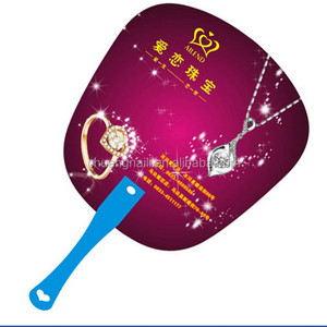 Promotional Plastic/ Pp Hand Fan With Rivet