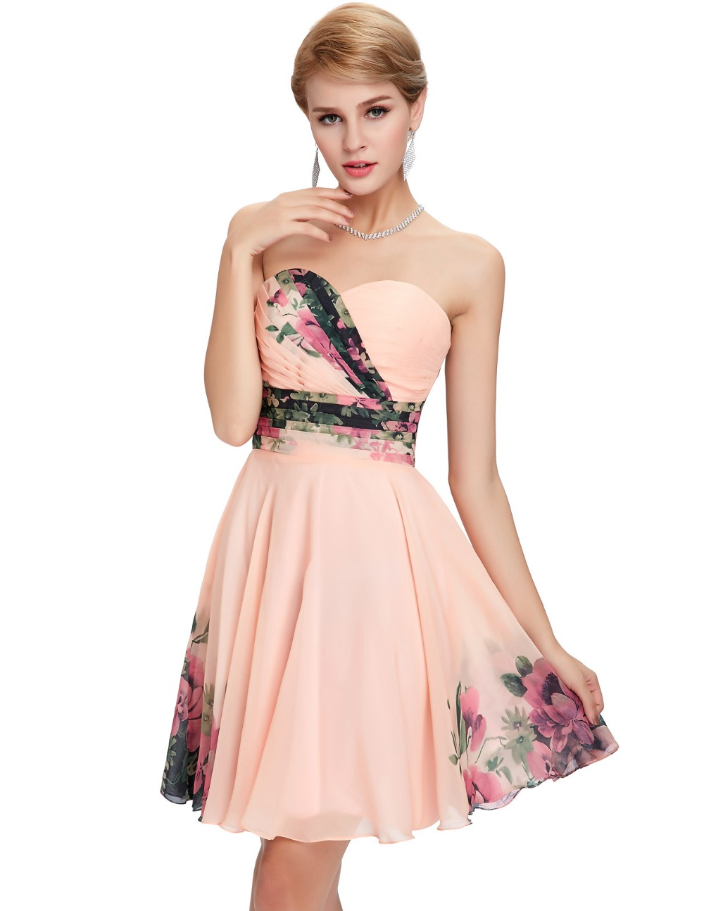 294b87ba117 ... Freeshipping 2015 New Sexy Women Floral Print dress Runway Vintage  Party Gown Short Pattern Evening Prom ...