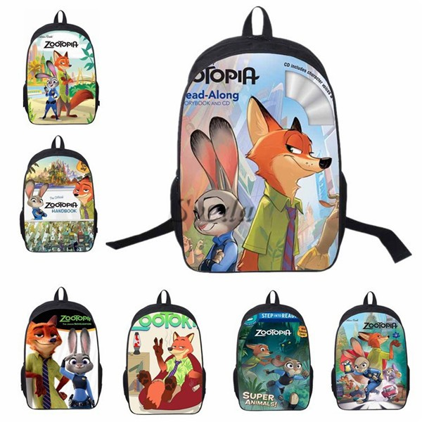 2016 Newest Popular Movie School Bags, Zootopia Backpacks, Kids School Backpack Wholesale price