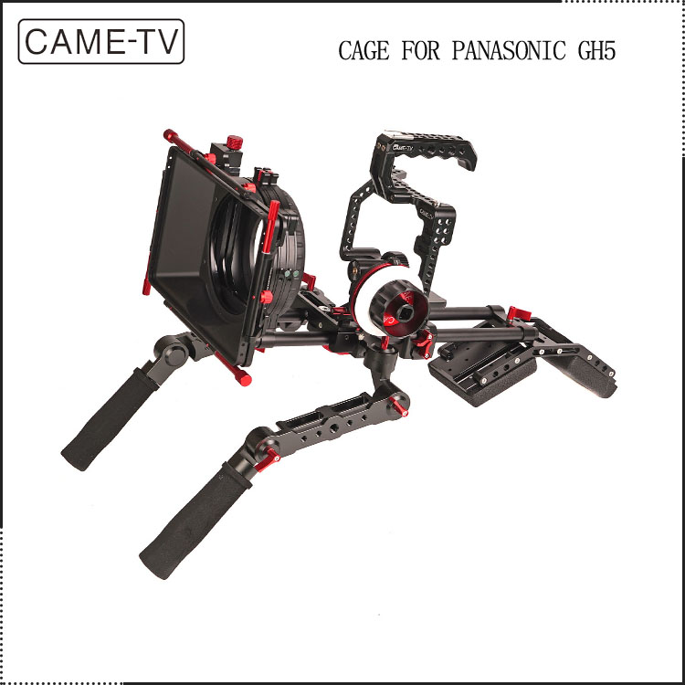 2017 Trending Product GH5 Rig Film Shooting Dslr Camera Rig Cage +matte box+follow focus+shoulder support+hand grips