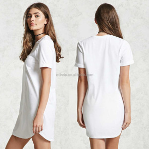 Sports tee shirt designs 100% cotton Round Neck Short Sleeves T-Shirt T Shirt Dress For Women
