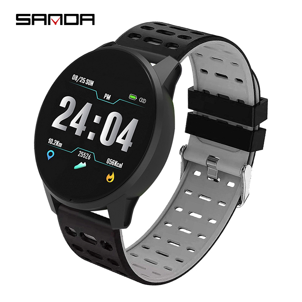 SANDA B2 Men Women Smart Digital Multi-function Sport Watch Sleep Tracker Hear Rate Monitor Wrist Watch, 4 colors