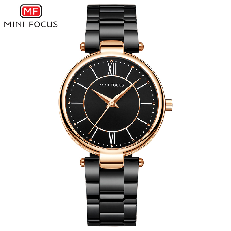MINI FOCUS MF0189L Lady's Fashion&Casual Watch Japan Quartz Movement Simple Style Stainless Steel Band Watch
