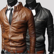 2017 The new design motorcycle men's leather jackets