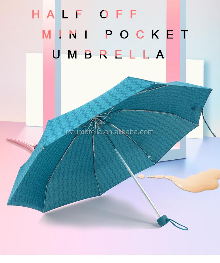 RST UV protection super light small mini five folding light-weight umbrella