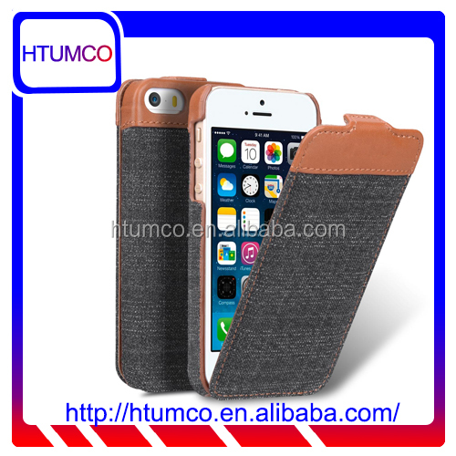 Flip Premium leather phone case cover for Apple Iphone 5s / 5