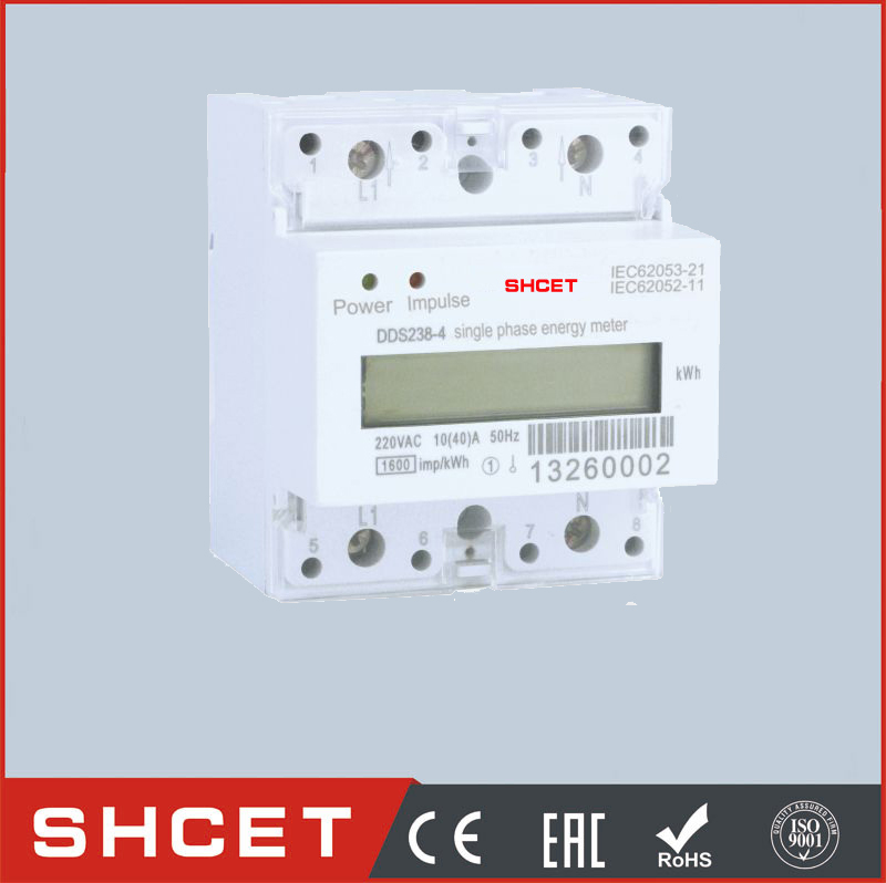 DDS238LCD-4P with RS485 Din Rail Type Multi-function Watt Hour Meter digital energy meter calibration test bench