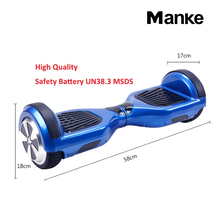 Manke factory 2017 high quality Remote Bluetooth electric hoverboard two wheel balance scooter
