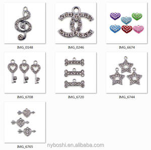 zinc alloy and rhinestone Jewelry pendant dangle For necklace earring keychain Factory price wholesales in stock