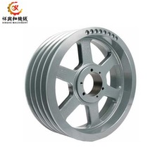 Customized sand cast iron pully wheel heavy duty industrial parts cast iron wheels with machining
