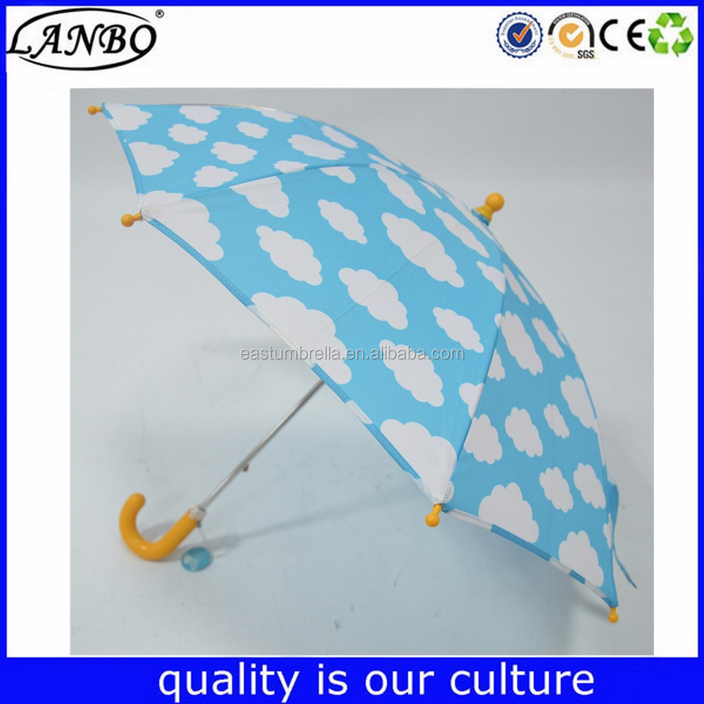 trade assurance russian sky blue and white cloud umbrella for child