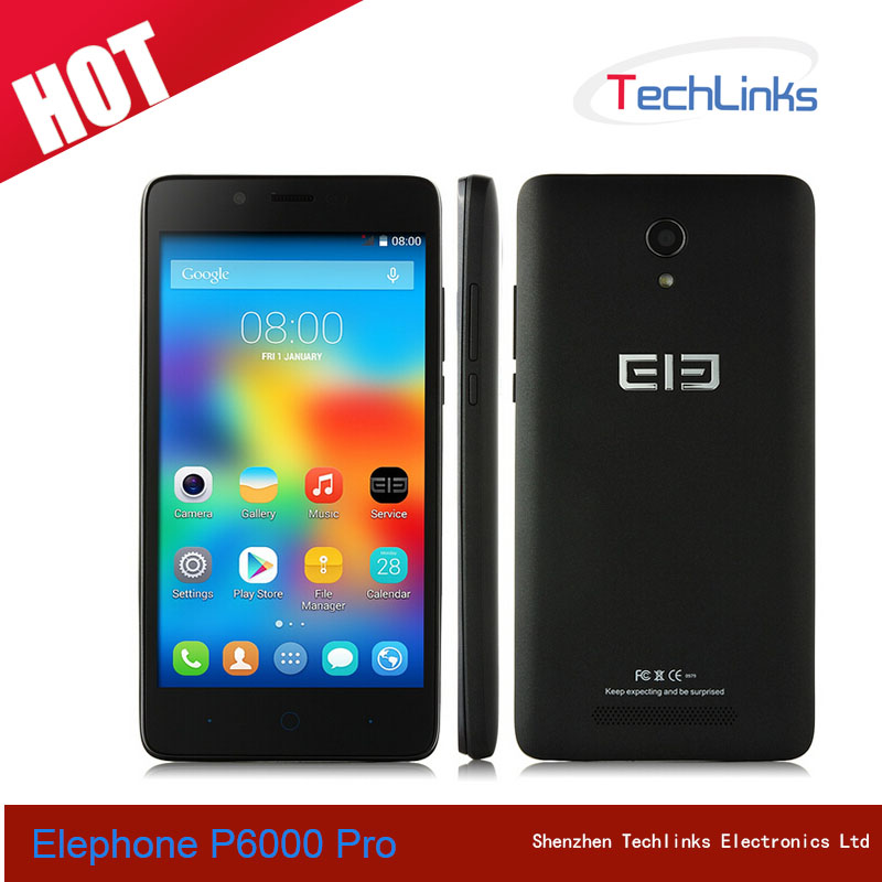 2015 Elephone P6000 PRO 4G Lte MTK6753 Octa Core 3GB 16GB Dual SIM 13MP Camera GPS 5 inch Android Phone