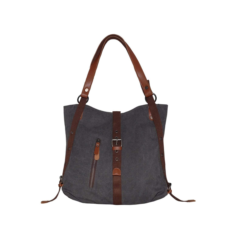 Shangri La Purse Women S Canvas Tote Bag Casual Shoulder Handbag Rucksack Backpack