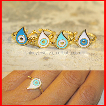 18k Yellow Gold Plating Meaning Turkish Evil Eye Gold Ring Buy
