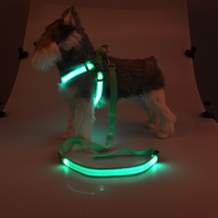 Pantong color LED designs dog harness and leash