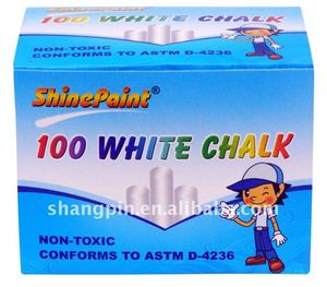 100PCS white dustless school chalks