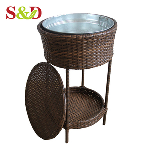 Outdoor rattan unique standing big beer cooler for drink storage