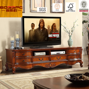 Solid Teak Wood TV Cabinet Royal Living Room Furniture TV Stand