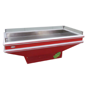 open top ice table/supermarket fish ice table/meat ice table display case