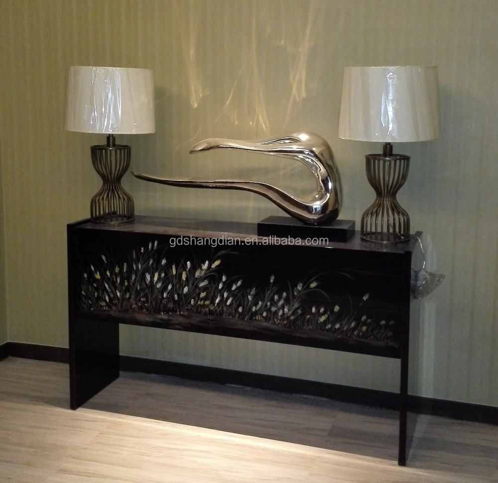 Modern furniture italian design colored painting wall console table