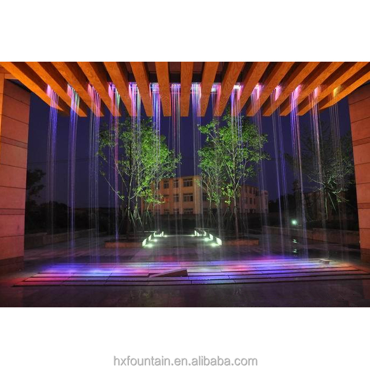 Artificial indoor outdoor digital waterfall screen