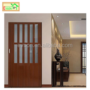 Wooden PVC Back Door With Glass