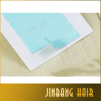 Blue patch type double-sided adhesive , hair extension glue 0.8*4cm