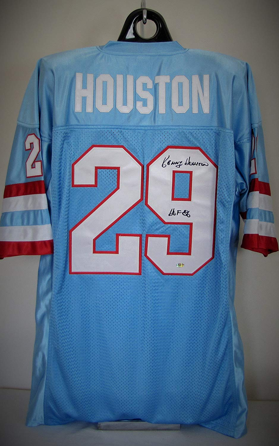 Get Quotations · Kenny Houston Autographed Custom Jersey - Houston Oilers  Hall of Famer 1ac54cfc6