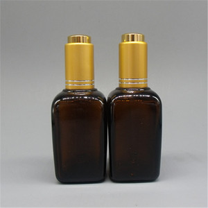 Crysbeaty amber glass anointing oil bottles square packaging cosmetic digital dropper