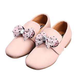 Baby Girl Dress Leather Single Casual Shoe Loafers Kids Slip On Bow-knot Princess Shoes