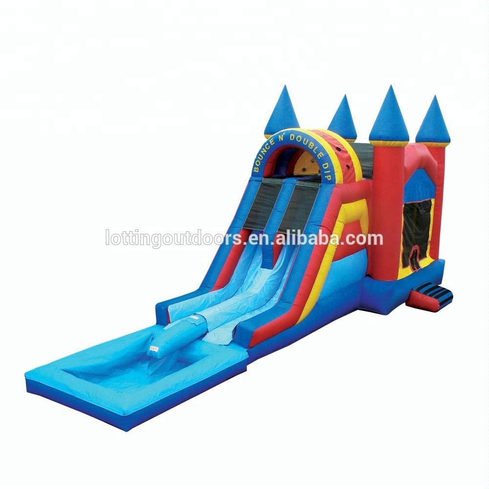 No Harm To Children Bouncy Slide Inflatable Bouncer with Water Slide