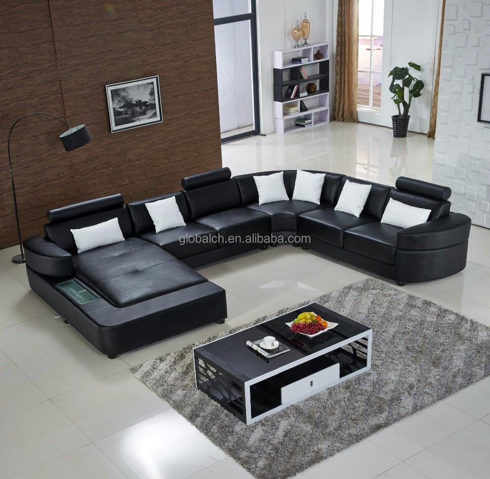 2015 עיצוב ספה חדש מודרני ספת עור ספות סלון מספר זיהוי
