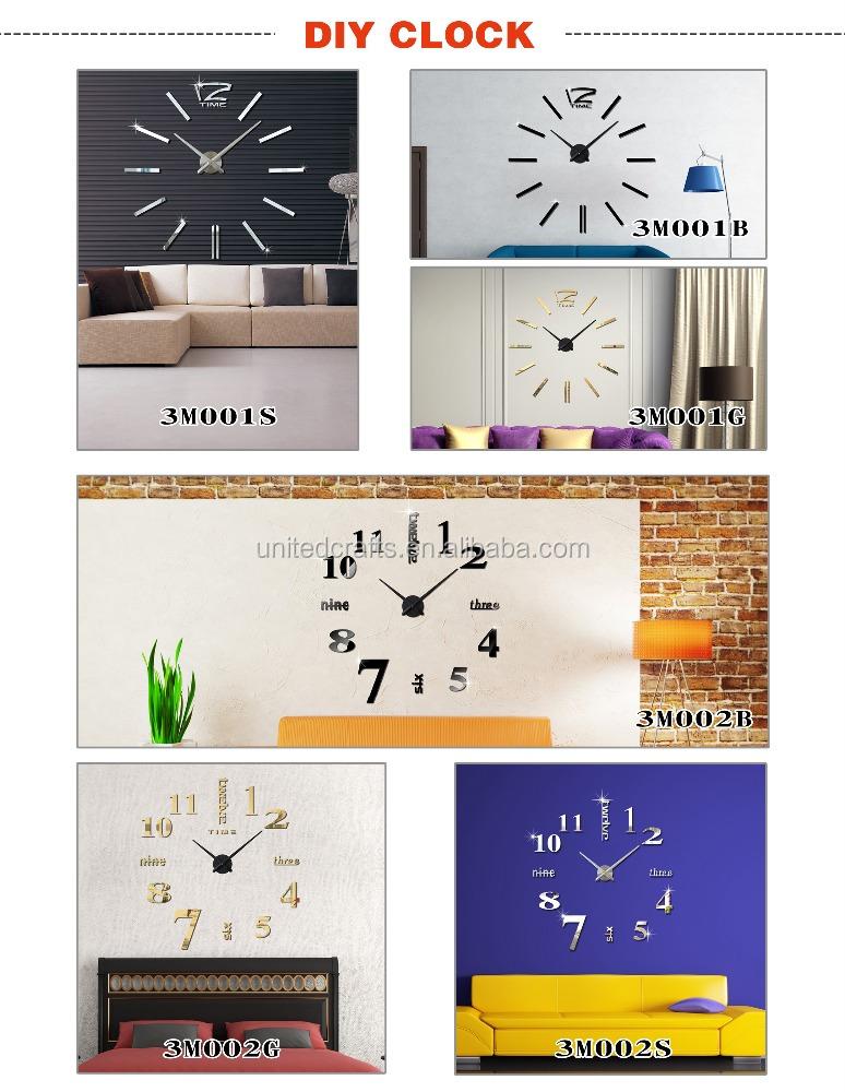 Modern Design Diy Large Wall Clock 3d Mirror Surface Sticker Home Decor Art Buy Decoration Wall Art Wall Clock Diy Large Wall Clock 3d