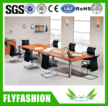Wooden And Metal Frame Rectangular Conference Tablehigh Top Office - High top office table
