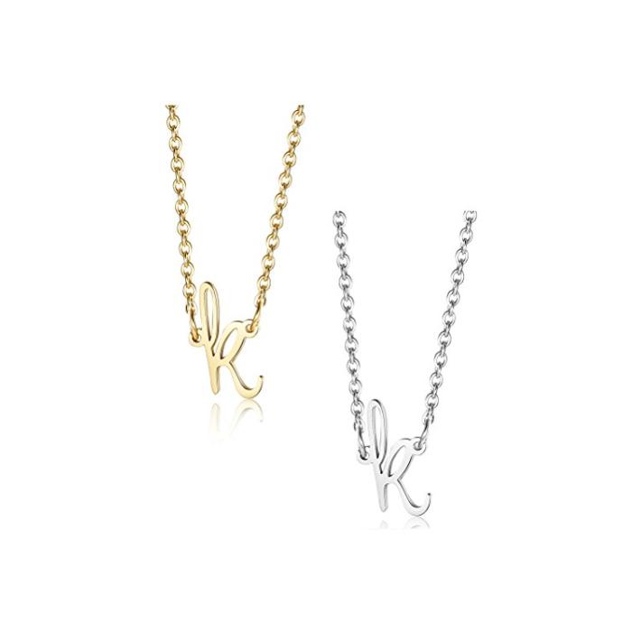 Hot letter K 1pcs Women// Men/'s Silver 316L Stainless Steel  Pendant Necklace