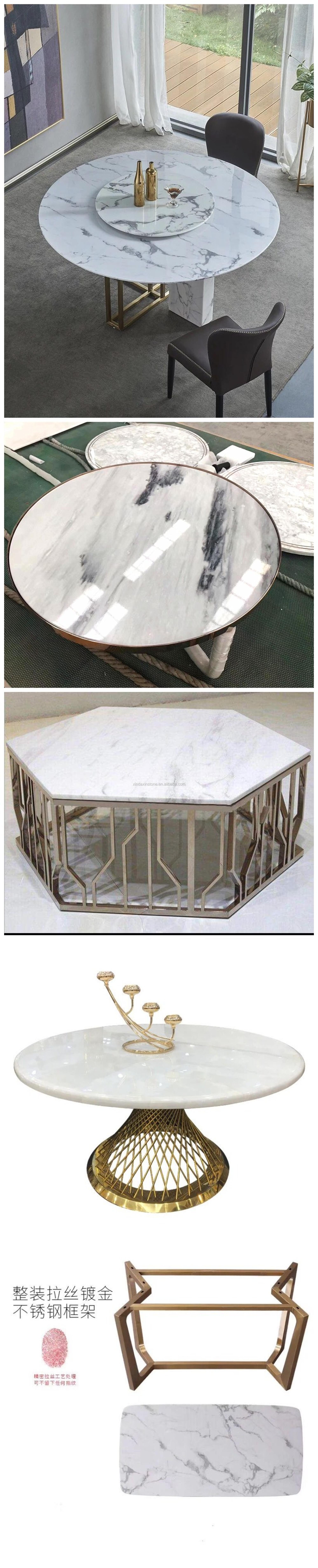 Chinesischen Naturstein Marmor Esstisch Set Mobel Aus China Online