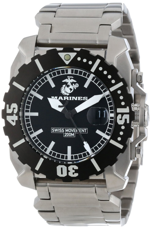 Wrist Armor Men's WA125 Stainless Steel Swiss Quartz Watch