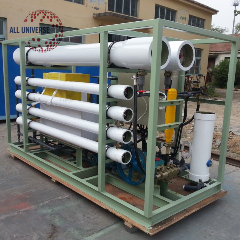 Containerized Seawater desalinator , Brackish water desalination system , Seawater desalination RO system gold supplier
