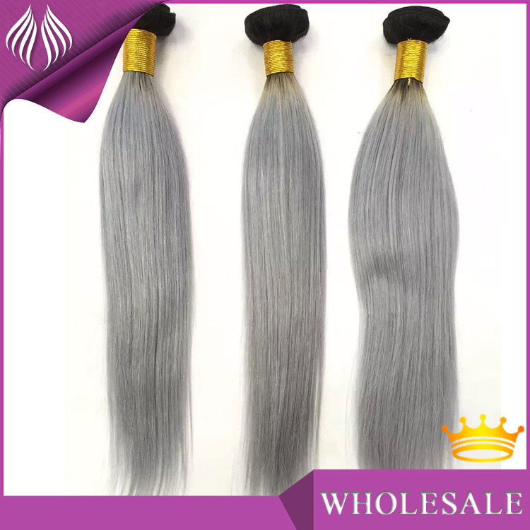 Grade 8a Top Quality no shedding Remy Human brazilian grey hair